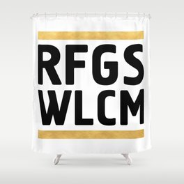 RFGS WLCM - Refugees Welcome Shower Curtain