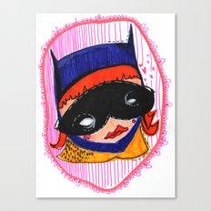 Batgirl in Love Canvas Print