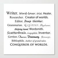 writer Canvas Prints featuring Writer by Thoughts from behind the Lens