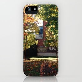 Golden Rays, Golden Leaves iPhone Case