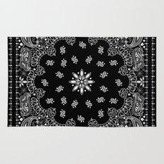 black and white bandana Rug