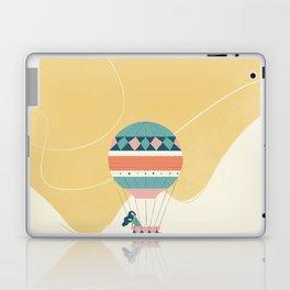 Travel in a Coffee Hot Air Balloon Laptop & iPad Skin