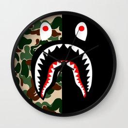 Bape Shark Pattern Wall Clock