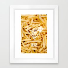 Diamonds & French Fries Framed Art Print