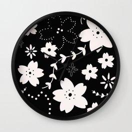 Dark Sakura 2018 Wall Clock