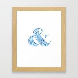 Faceted Ampersand Framed Art Print