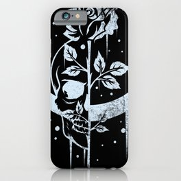 Occult Moon Rose Witchcraft Wicca Skull Gothic iPhone Case
