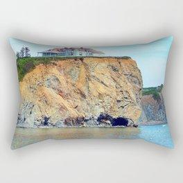 Cliffs of Perce Panoramic Rectangular Pillow
