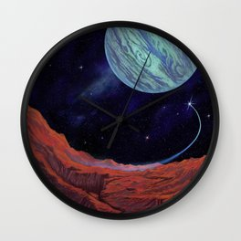 Blues of outer space Wall Clock