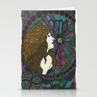 virgo Stationery Cards featuring Virgo by Laura Jean