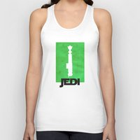 jedi Tank Tops featuring Vintage Jedi by Fletcher McKinney