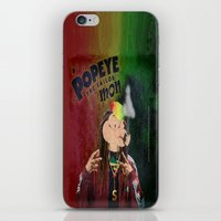 popeye iPhone & iPod Skins featuring POPEYE THE SAILOR MON - 018 by Lazy Bones Studios