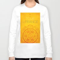 tour de france Long Sleeve T-shirts featuring Tour De France 2014 Poster by Patrick Anthony Leverton