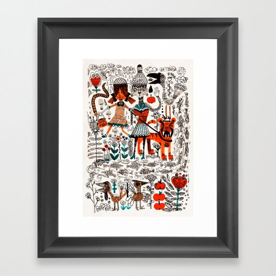 By The River Framed Art Print
