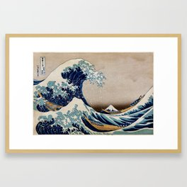 Under the Great Wave by Hokusai Framed Art Print