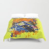 moto Duvet Covers featuring Moto Splash by Echo9Studio