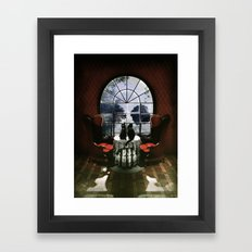 Room Skull Framed Art Print
