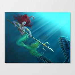 Not so little mermaid... Canvas Print