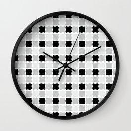 Scottish pattern in white and black cage #society6 #decor #buyart #artprint Wall Clock
