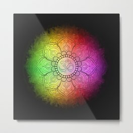 Colours of Om Metal Print