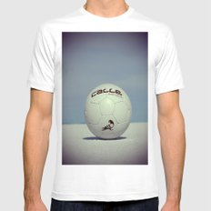Yippe-Calle. MEDIUM White Mens Fitted Tee