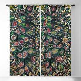 Feuilles - Leaves and Flowers by Seraphine Louis Blackout Curtain