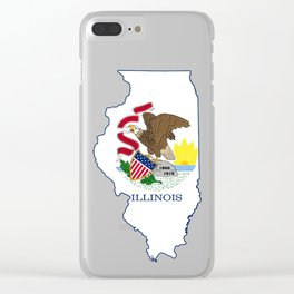 Illinois with Illinois State Flag Clear iPhone Case