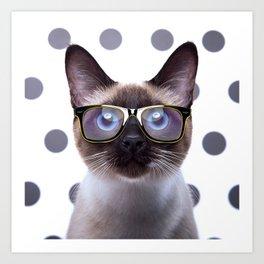 Geometry Class Kitty Art Print