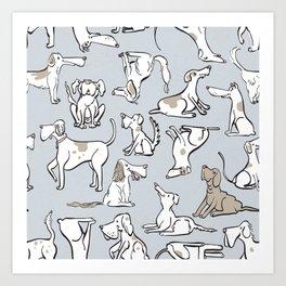 Dog Gone It Pattern Art Print
