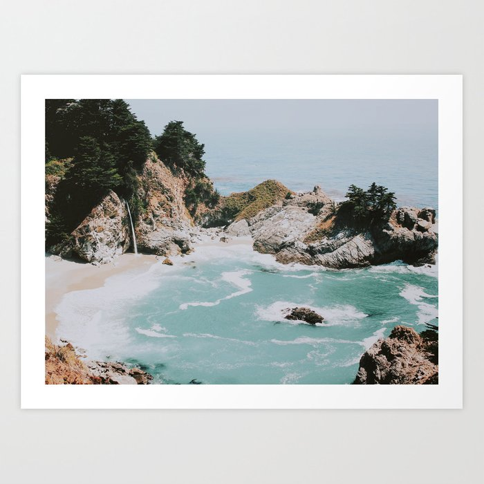 big sur california art print by mauikauai society6