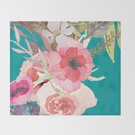 Flowers , floral , shabby chic décor,  flower decor , Throw Blanket
