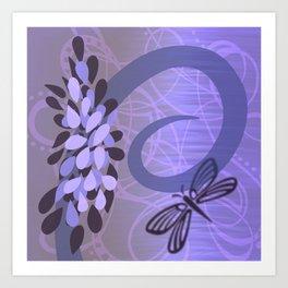 Summer Daze - Purple  Art Print