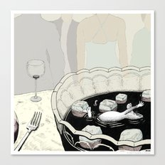 A Rat in a Punch Bowl Canvas Print