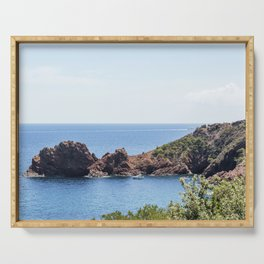 Seacoast of the Esterel Natural Park in French Riviera Serving Tray