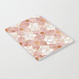 Rose Gold Art Deco Butterfly Pattern Notebook