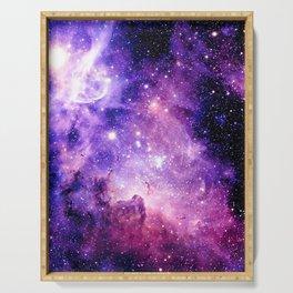 Galaxy Nebula Purple Pink : Carina Nebula Serving Tray