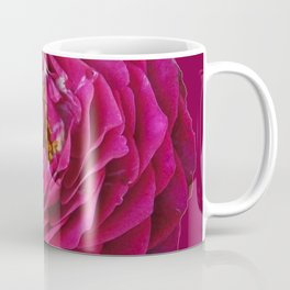 """BLUE YONDER"" MAGENTA ROSE  MAGENTA COLOR ART Coffee Mug"