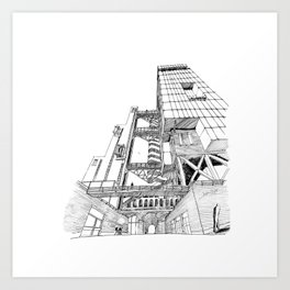 Offices Building project Art Print