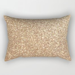 Copper Rose Gold Metallic Glitter Rectangular Pillow
