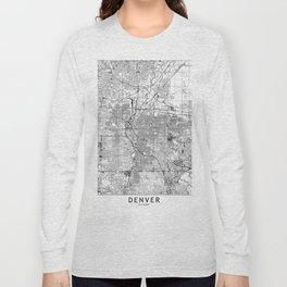 Denver White Map Long Sleeve T-shirt