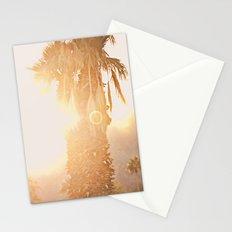 California Fine Art Print Yellow, Peach, Cream La Quinta Palm Tree Photograph - Desert Sunset  Stationery Cards