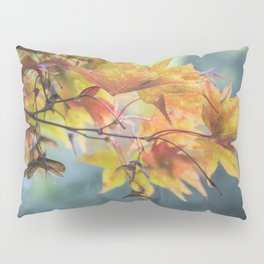 Yellow Acer Leaves Pillow Sham