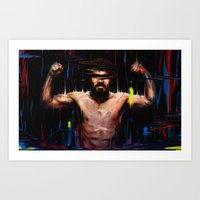 pacman Art Prints featuring Pacman by nicebleed