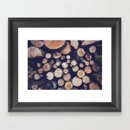 firewood no. 1 Framed Art Print