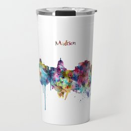 Madison Skyline Silhouette Travel Mug
