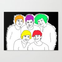 1d Canvas Prints featuring 1D punked by Rebecca Bear