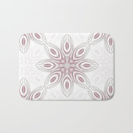 Feathers, Geometric Pattern in Mauve and Grey Bath Mat