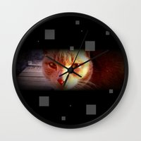 ginger Wall Clocks featuring Ginger by Emsify