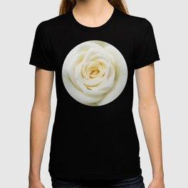 Shabby chic pink rose flower T-shirt