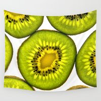 kiwi Wall Tapestries featuring Kiwi Fruit by Bruce Stanfield